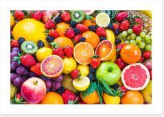 Mixed fruits Art Print 78123835