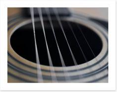 Guitar strings Art Print 79022902
