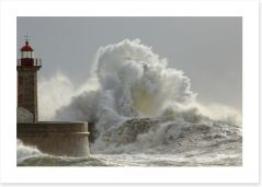 Lighthouse in the storm Art Print 79288124