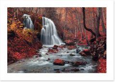 Vibrant autumn falls
