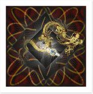 Golden dragon Art Print 79634273