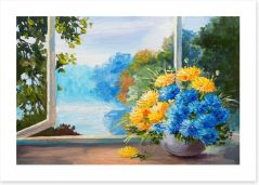 Bouquet by the window Art Print 79670032