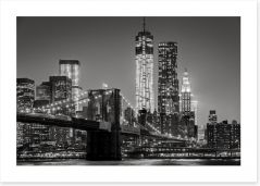 New York by night Art Print 80201482