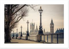 Along the River Thames Art Print 81420238