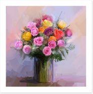 Roses and ferns Art Print 81446227
