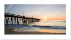 Sunrise over the pier Art Print 81610792