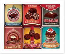 Vintage chocolate Art Print 81696314