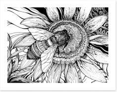 Honey bee Art Print 81795835