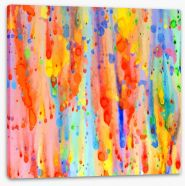 Rainbow drops Stretched Canvas 83175445