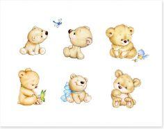 Six little bears