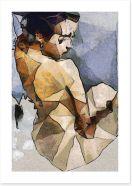 The seated woman Art Print 84561359