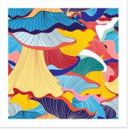 Mushrooms forever Art Print 85022247