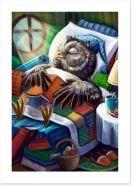 Late night reading Art Print 85591064