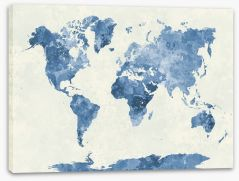 Blues of the world Stretched Canvas 86057603