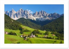 The magnificent Dolomites Art Print 86219880