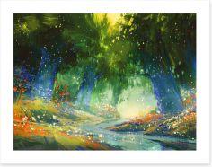 Mystic forest Art Print 86951486