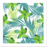 Exotic Summer leaves Art Print 87220751