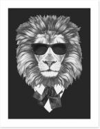 Suave lion Art Print 89534487