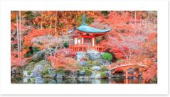 Kyoto temple in Autumn Art Print 89740919