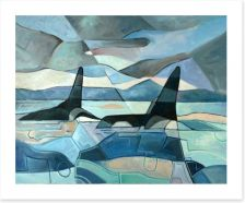Orcas swimming Art Print 90991090
