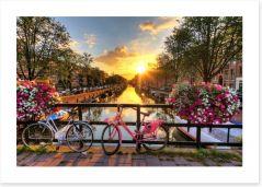 Amsterdam sunrise Art Print 91108597