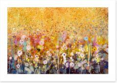 Summer blossom meadow Art Print 91236819