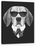 Suave beagle Stretched Canvas 91585278