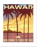 Retro Hawaii Art Print 91743863