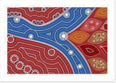 Where the river splits Art Print 91912387