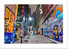 Hosier Lane in Melbourne Art Print 93625249