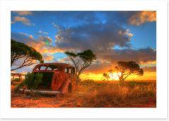 Forever on the Nullarbor Plain Art Print 94079434