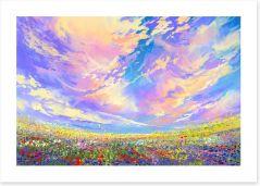 Summer skies Art Print 94844141