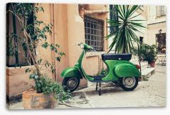 Vespa in the old village Stretched Canvas 95905785