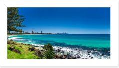 Gold Coast beach panorama