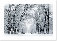 Magical snowstorm Art Print 96588835