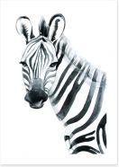 Watercolour zebra