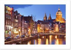 Amsterdam dusk Art Print 98311018