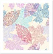 Pastel leaves Art Print 98701687