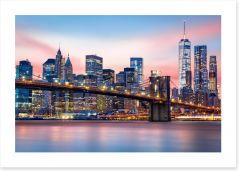 Lower Manhattan sunset Art Print 98928129