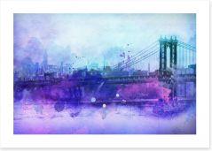 Manhattan Bridge hues Art Print 99043267
