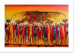 Colours of Kenya Art Print 99054608