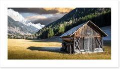 Lone alpine chalet Art Print 99745148