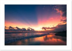 Soft Bali sunset Art Print CS0002