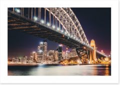 Sydney by night Art Print CS0018