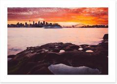Sydney burning sky