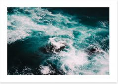 Blue motion I Art Print CS0024