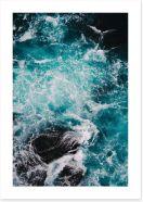 Blue motion II Art Print CS0025