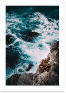 Below the ocean cliff Art Print CS0026