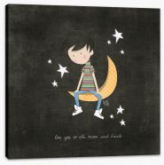 To the moon and back Stretched Canvas KB0006