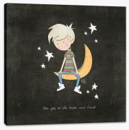 To the moon and back Stretched Canvas KB0007